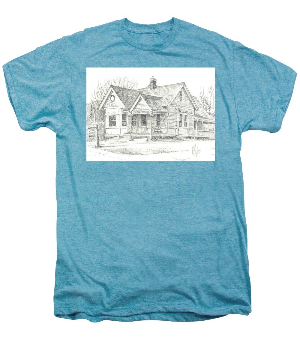 The Antique Shop Men's Premium T-Shirt featuring the drawing The Antique Shop by Kip DeVore