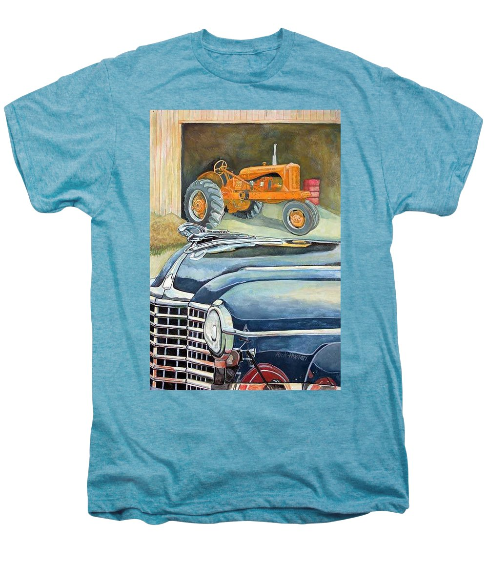 Rick Huotari Men's Premium T-Shirt featuring the painting The Old Farm by Rick Huotari