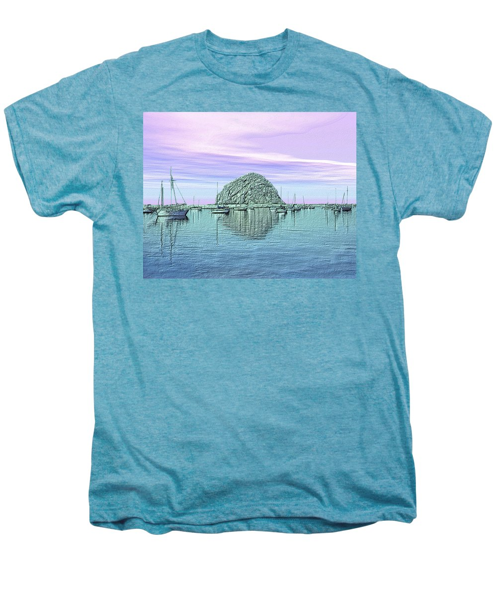 Seascape Men's Premium T-Shirt featuring the photograph The Rock by Kurt Van Wagner