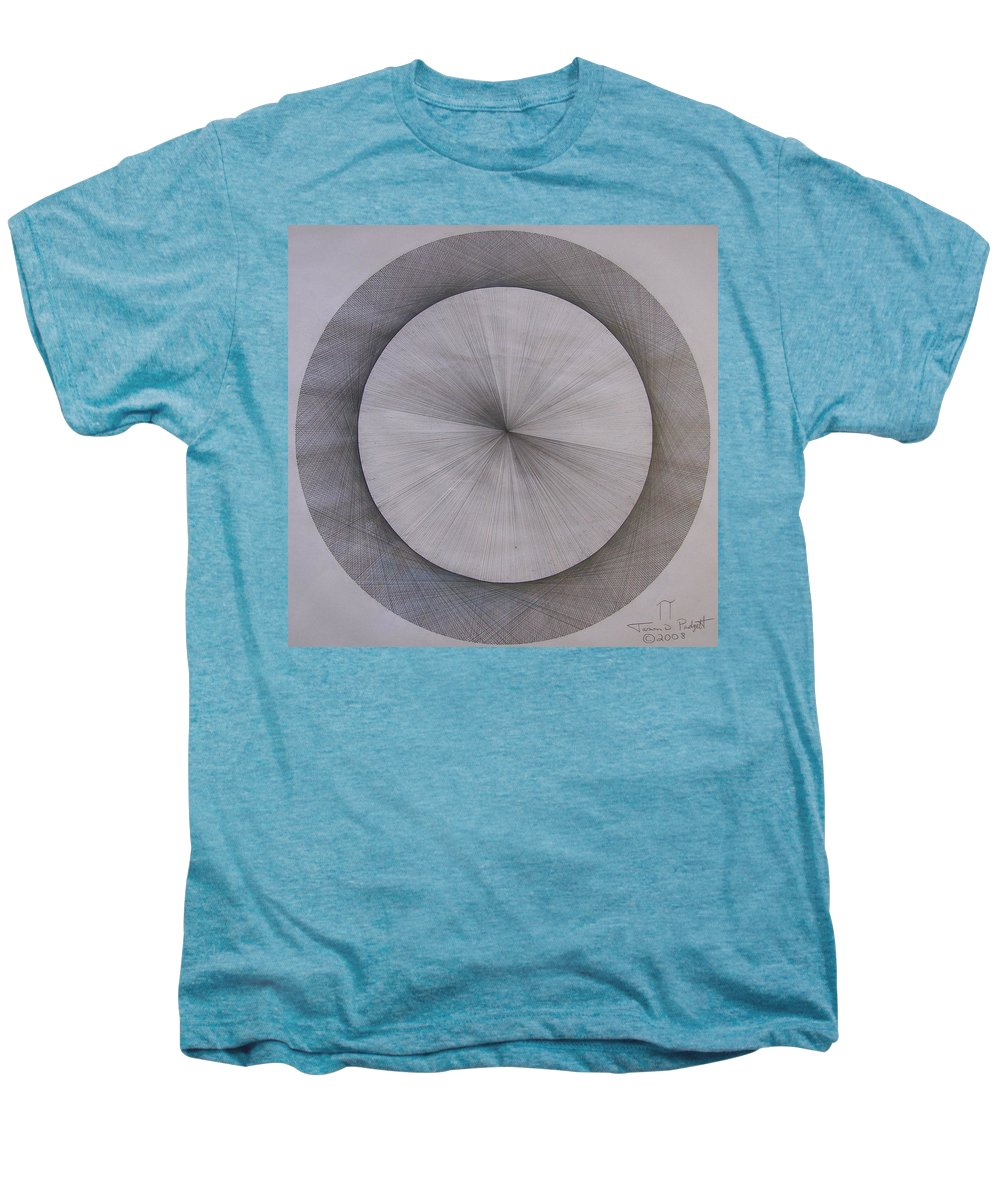Pi Men's Premium T-Shirt featuring the drawing The Shape Of Pi by Jason Padgett