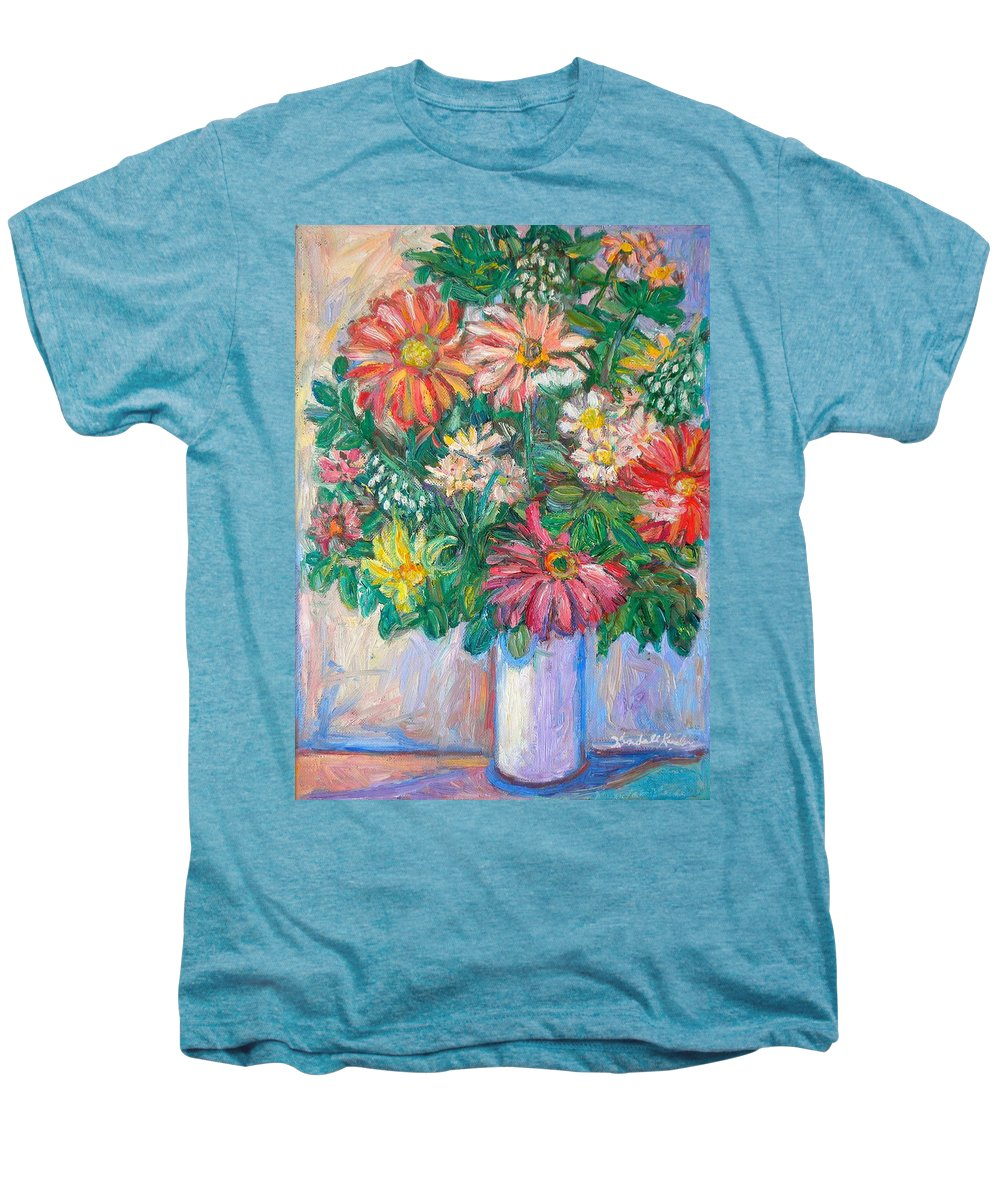 Still Life Men's Premium T-Shirt featuring the painting The White Vase by Kendall Kessler