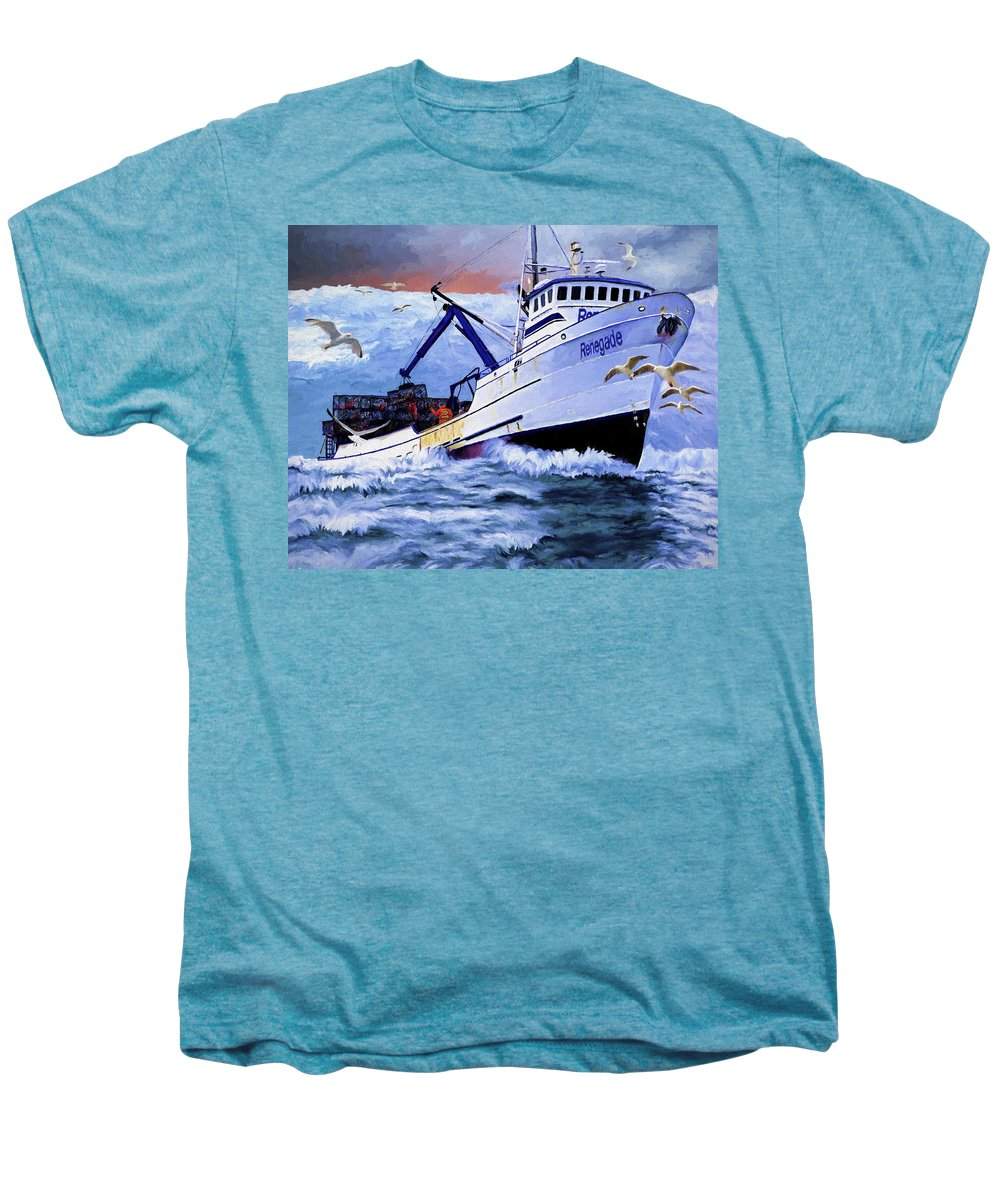 Alaskan King Crabber Men's Premium T-Shirt featuring the painting Time To Go Home by David Wagner