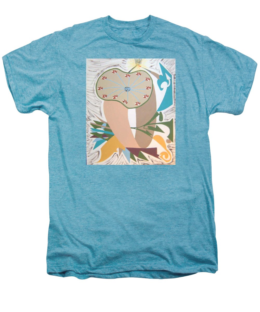 Abstract Men's Premium T-Shirt featuring the painting Times Up by Dean Stephens