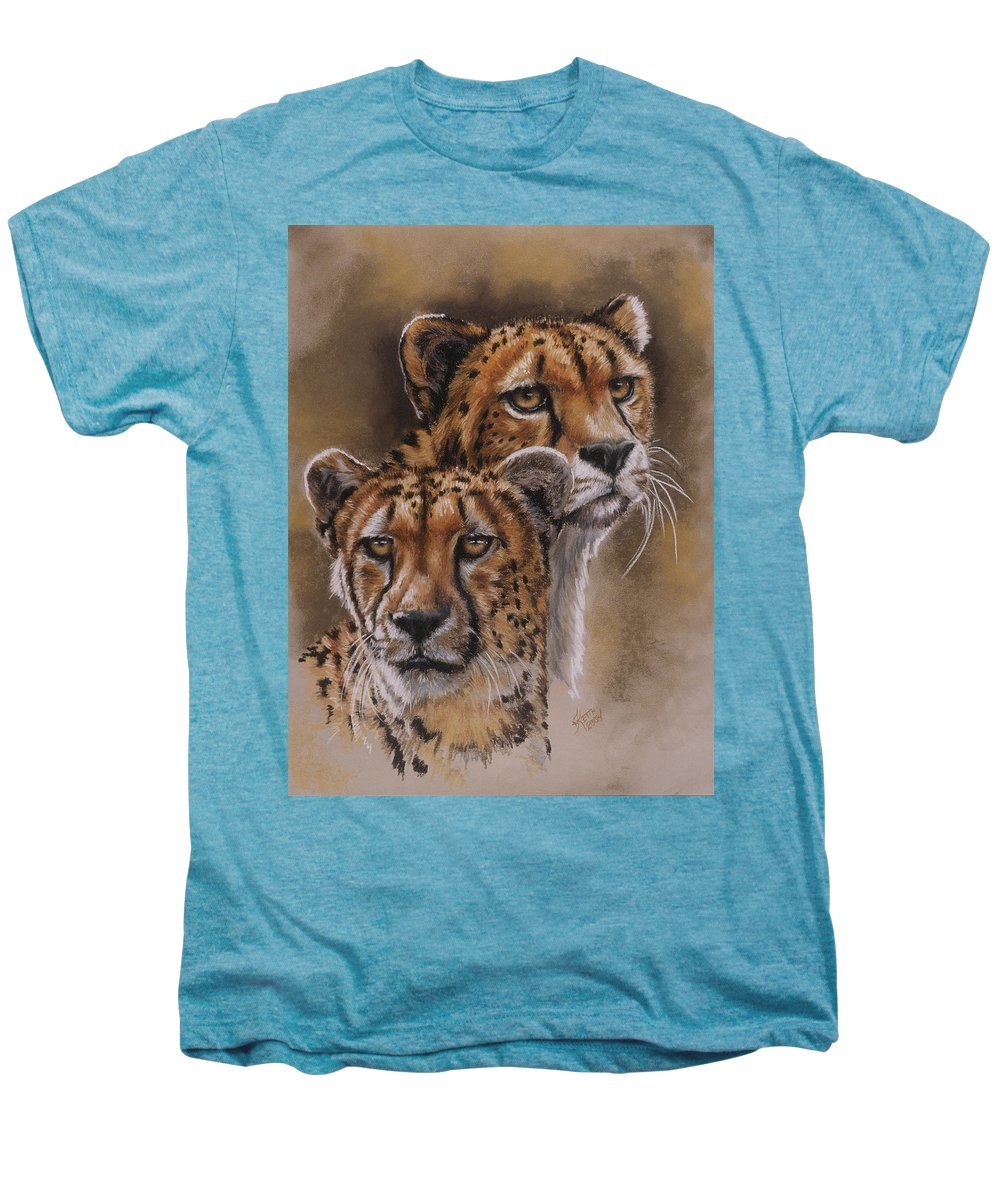 Cheetah Men's Premium T-Shirt featuring the pastel Twins by Barbara Keith