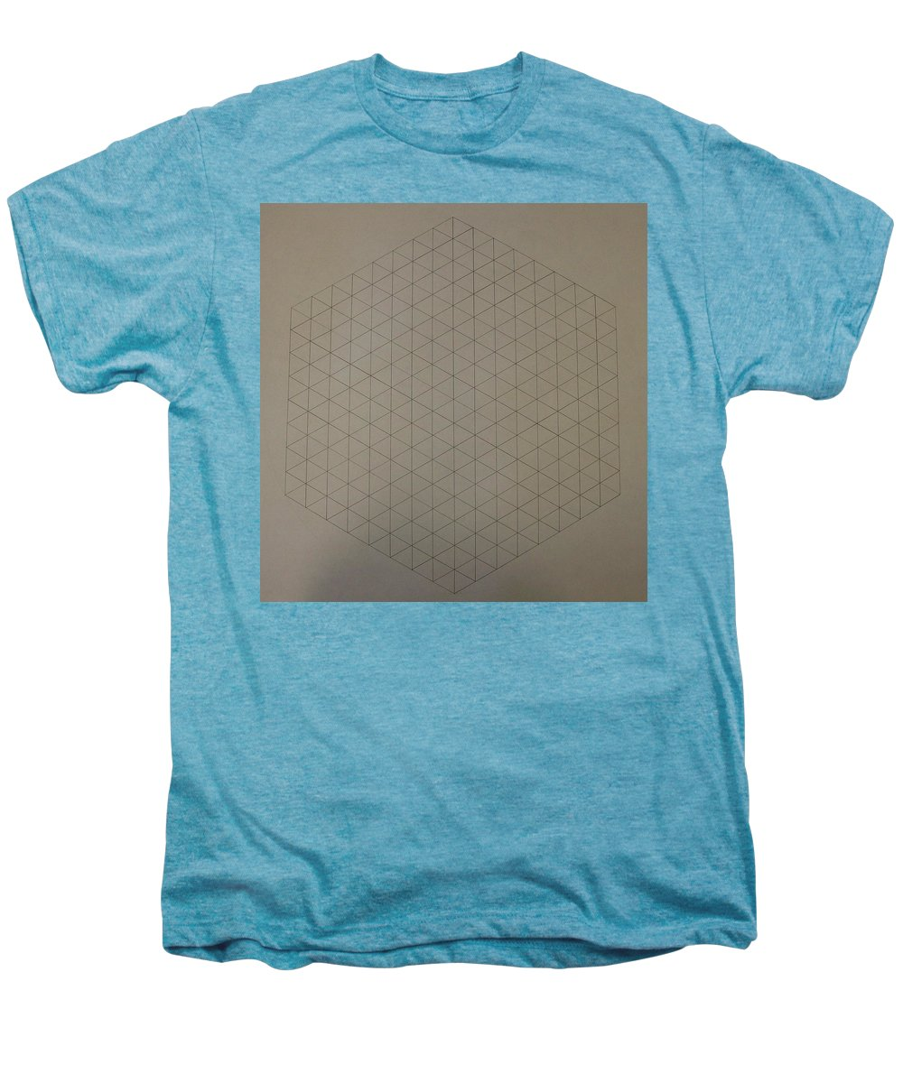 Math Men's Premium T-Shirt featuring the drawing Two To The Power Of Nine Or Eight Cubed by Jason Padgett