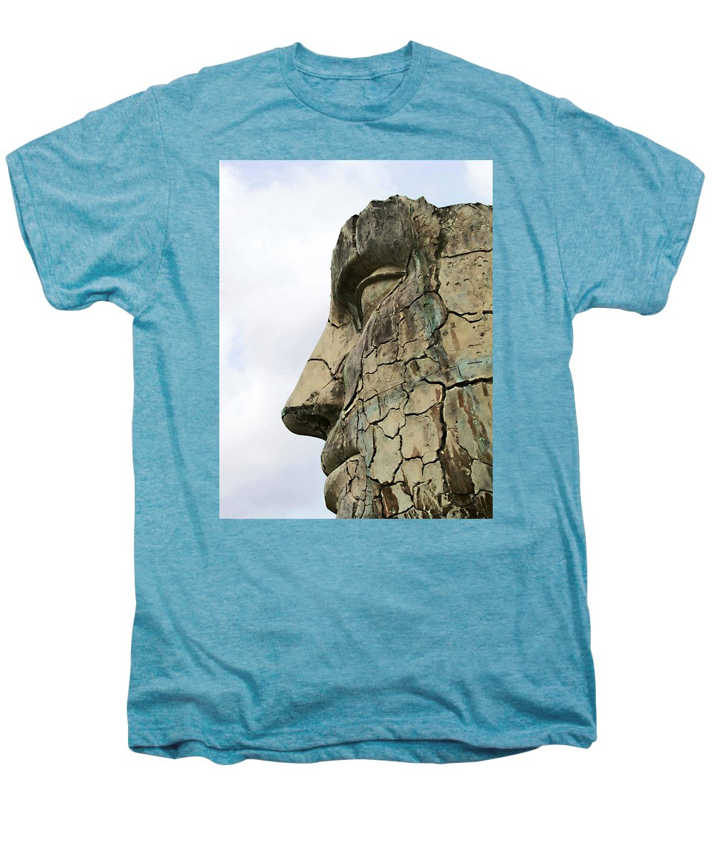Tyndareus Cracked Men's Premium T-Shirt featuring the photograph Tyndareus Cracked 1 by Ellen Henneke