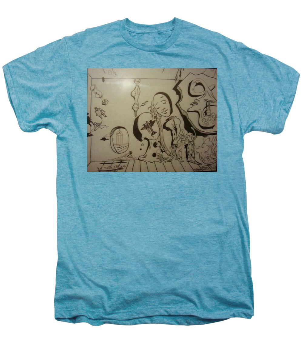 Men's Premium T-Shirt featuring the drawing Untitled by Jude Darrien