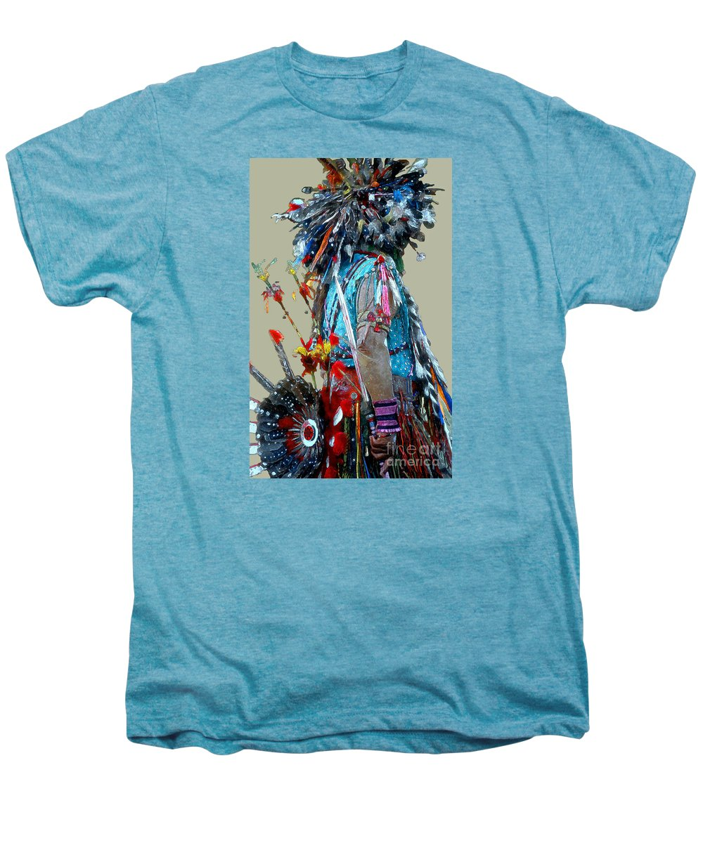 Indians Men's Premium T-Shirt featuring the photograph Waiting To Dance by Linda Parker