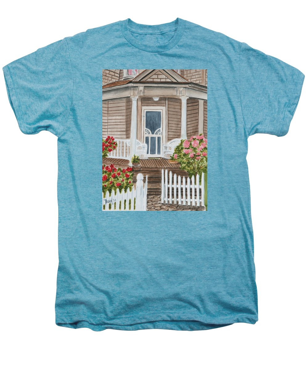 Architecture Men's Premium T-Shirt featuring the painting Welcome by Regan J Smith