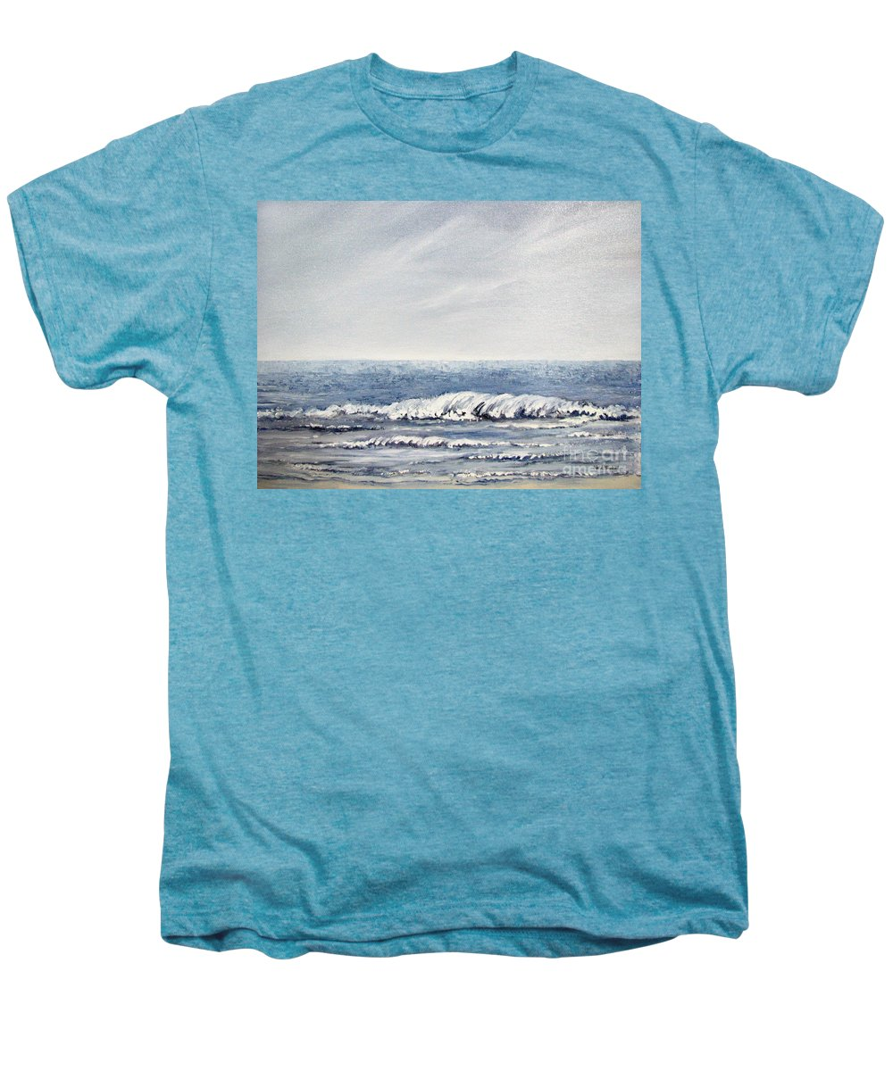 Seascape Men's Premium T-Shirt featuring the painting Where I Want To Be by Todd A Blanchard
