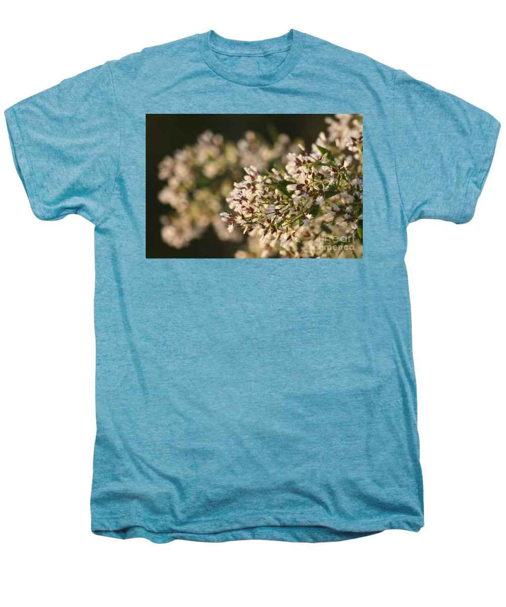 White Men's Premium T-Shirt featuring the photograph White Flowers by Nadine Rippelmeyer