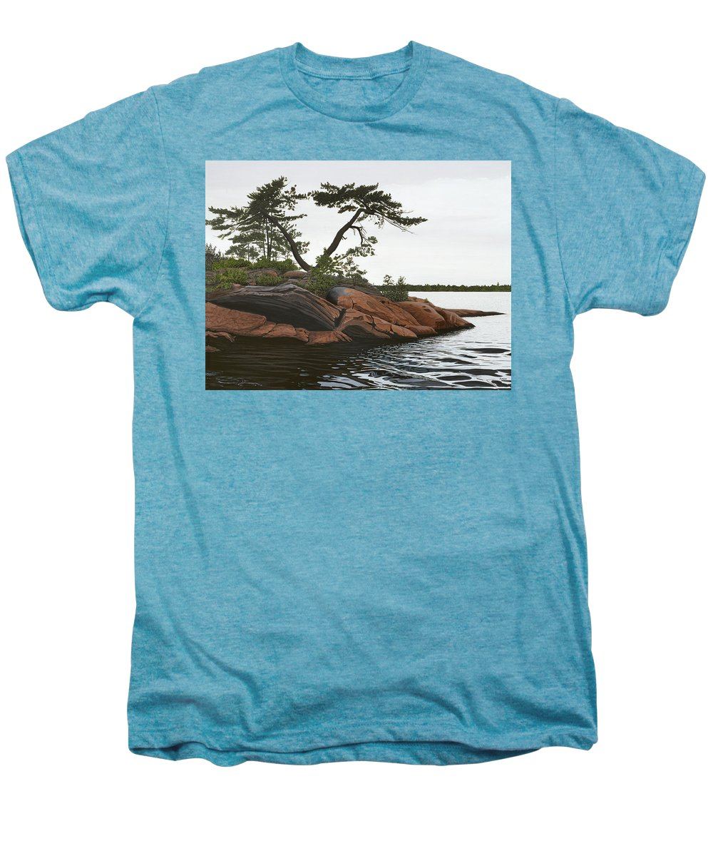 Landscape Paintings Men's Premium T-Shirt featuring the painting Windswept by Kenneth M Kirsch