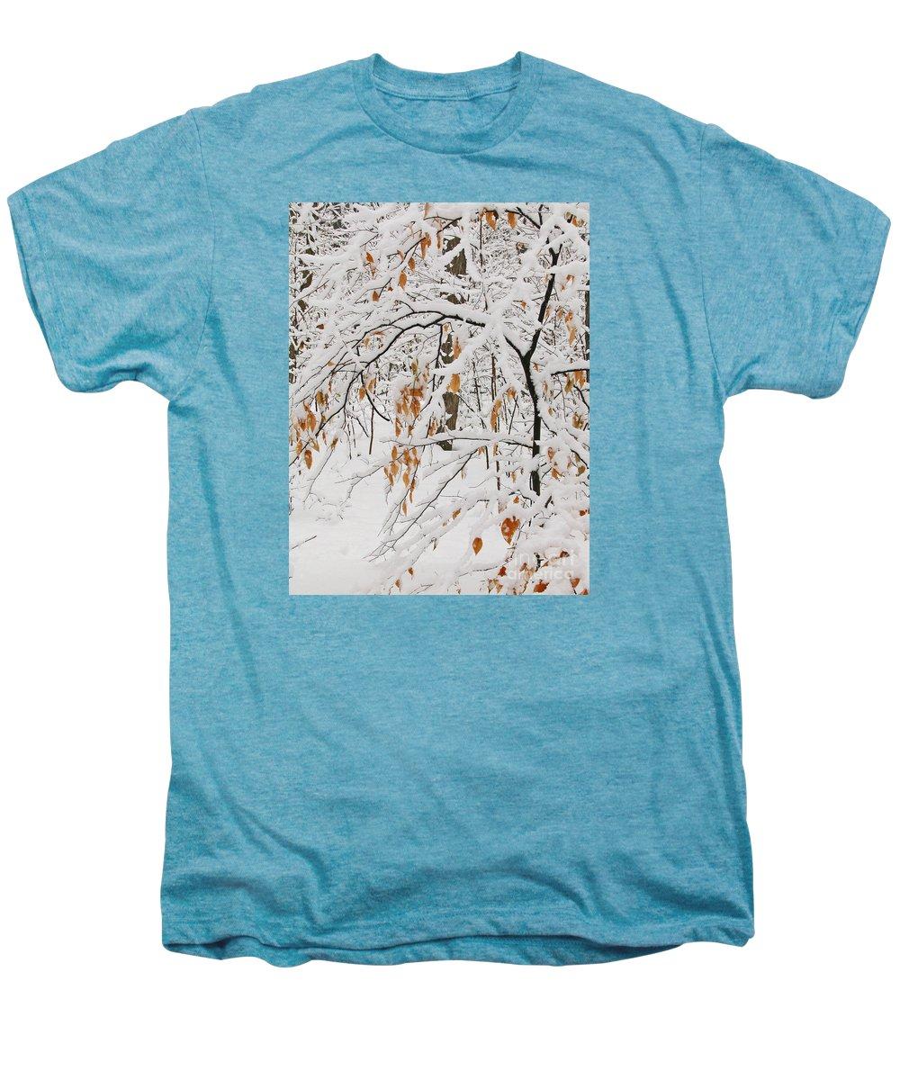Winter Men's Premium T-Shirt featuring the photograph Winter Branches by Ann Horn
