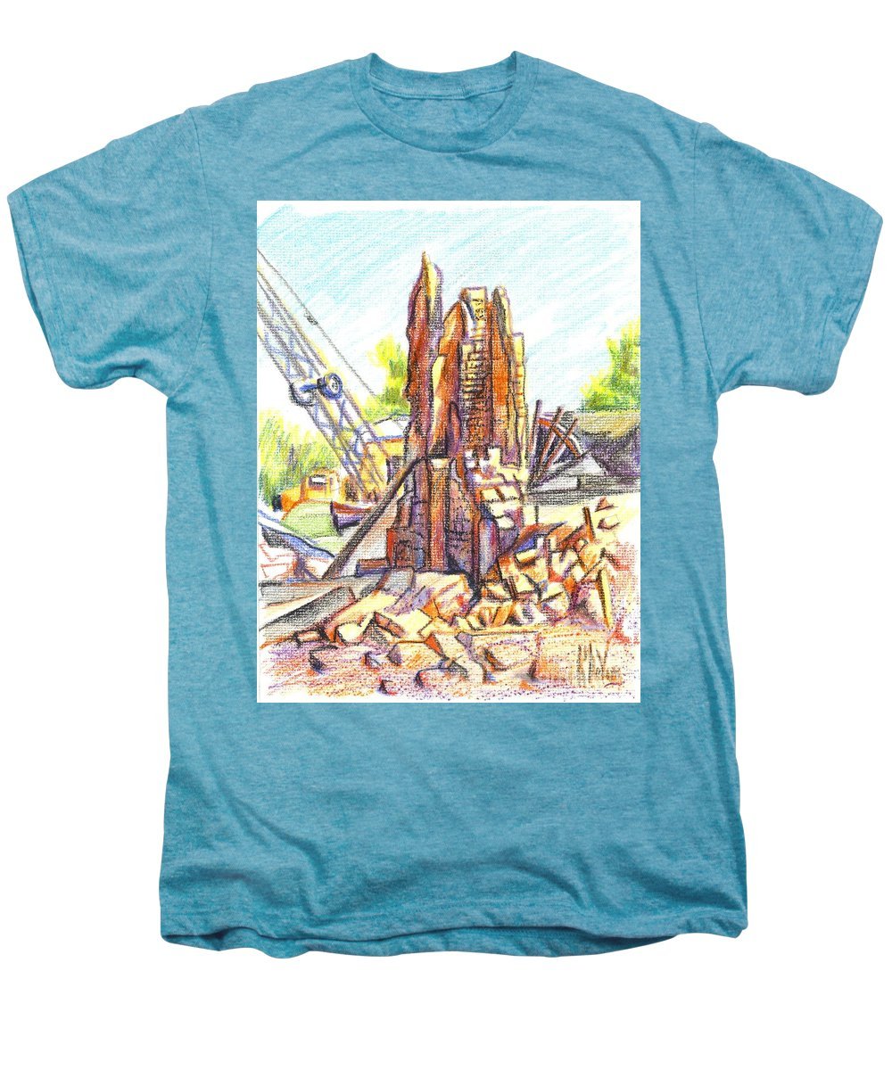 Wrecking Ball Men's Premium T-Shirt featuring the painting Wrecking Ball by Kip DeVore