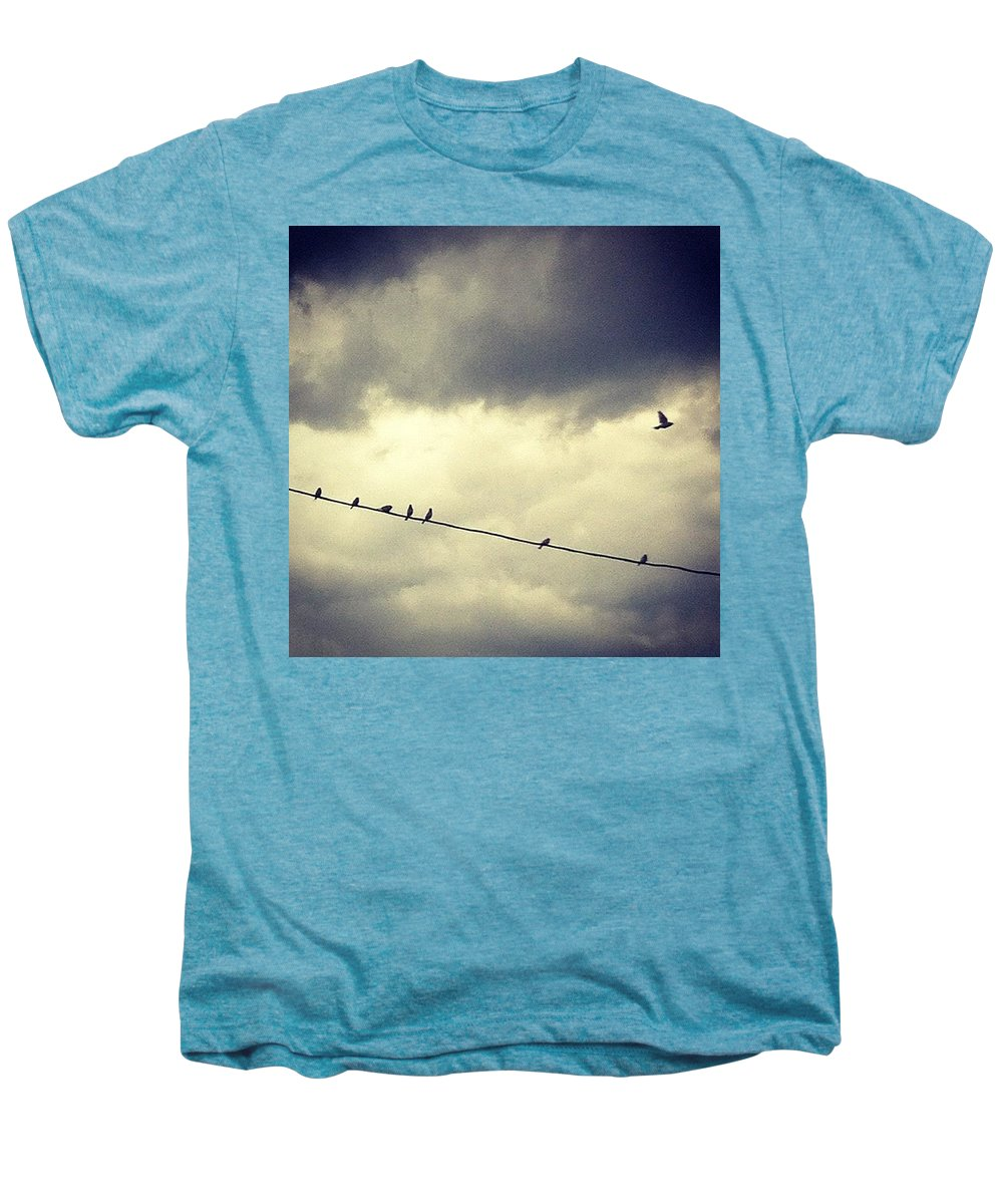 Men's Premium T-Shirt featuring the photograph Da Birds by Katie Cupcakes
