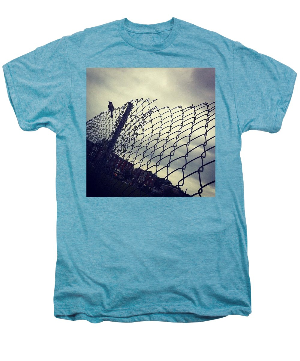 Mockingbird Men's Premium T-Shirt featuring the photograph Mock. Yeah! Ing. Yeah! Bird. Yeah! by Katie Cupcakes