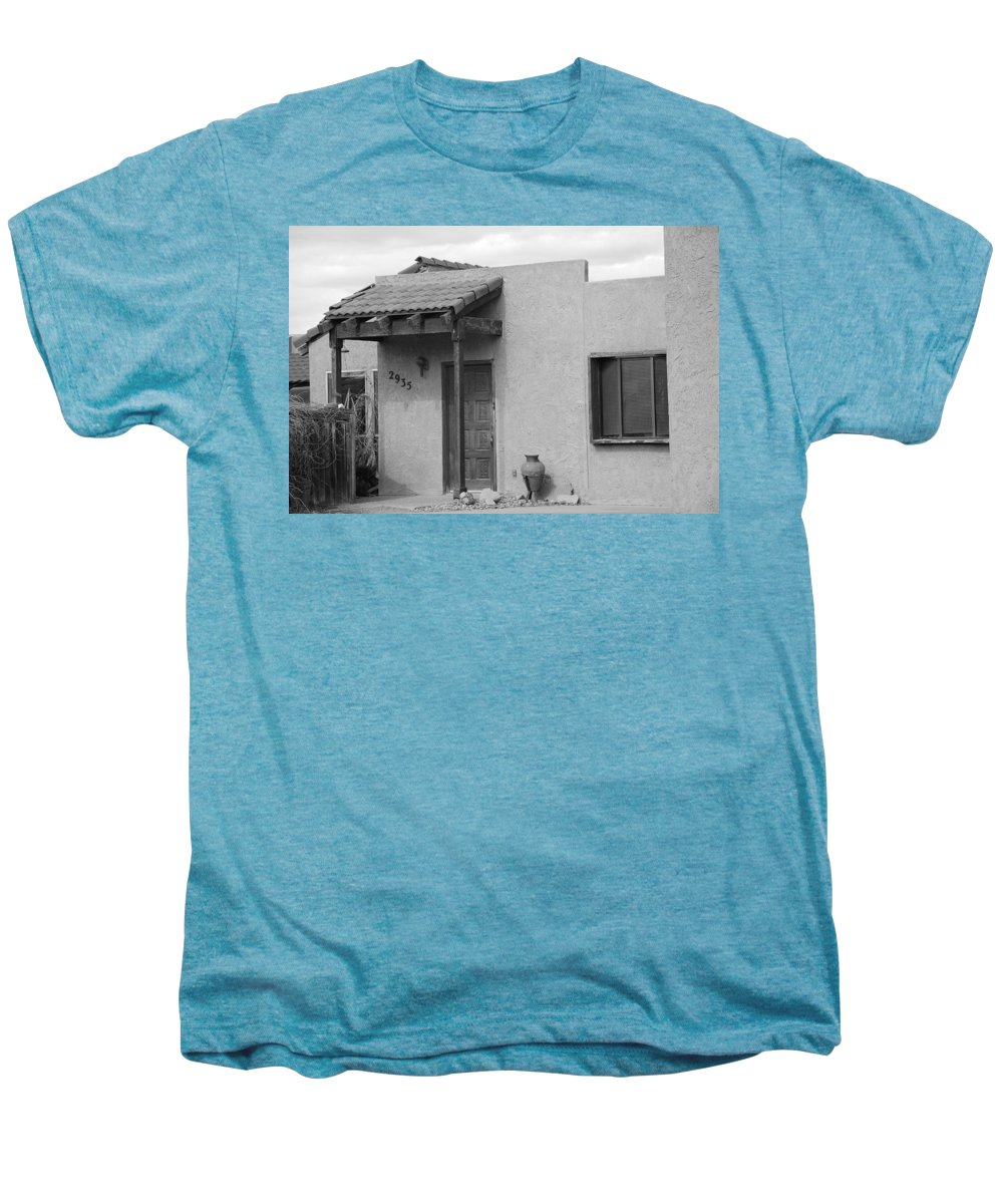 Architecture Men's Premium T-Shirt featuring the photograph Adobe House by Rob Hans