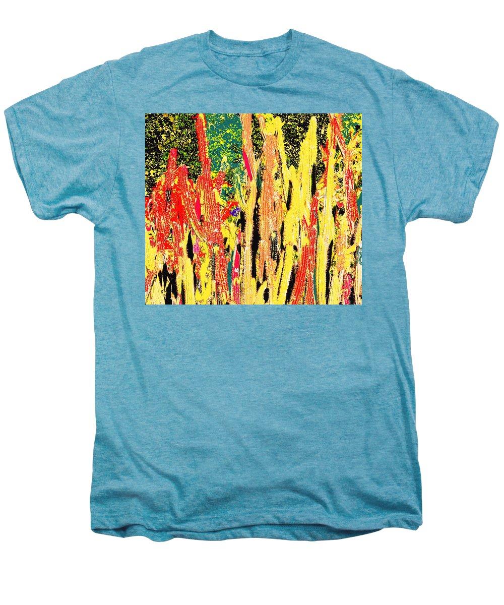 Cactus Men's Premium T-Shirt featuring the digital art Bridgestone Cacti by Ian MacDonald