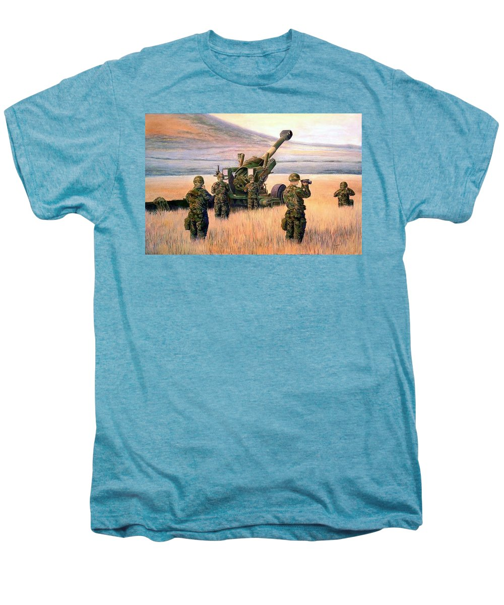 Signed And Numbered Prints Of The Montana National Guard Men's Premium T-Shirt featuring the print 1-190th Artillery by Scott Robertson