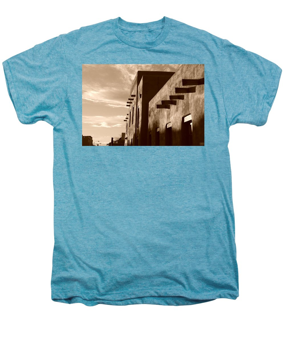 Architecture Men's Premium T-Shirt featuring the photograph Adobe Sunset by Rob Hans