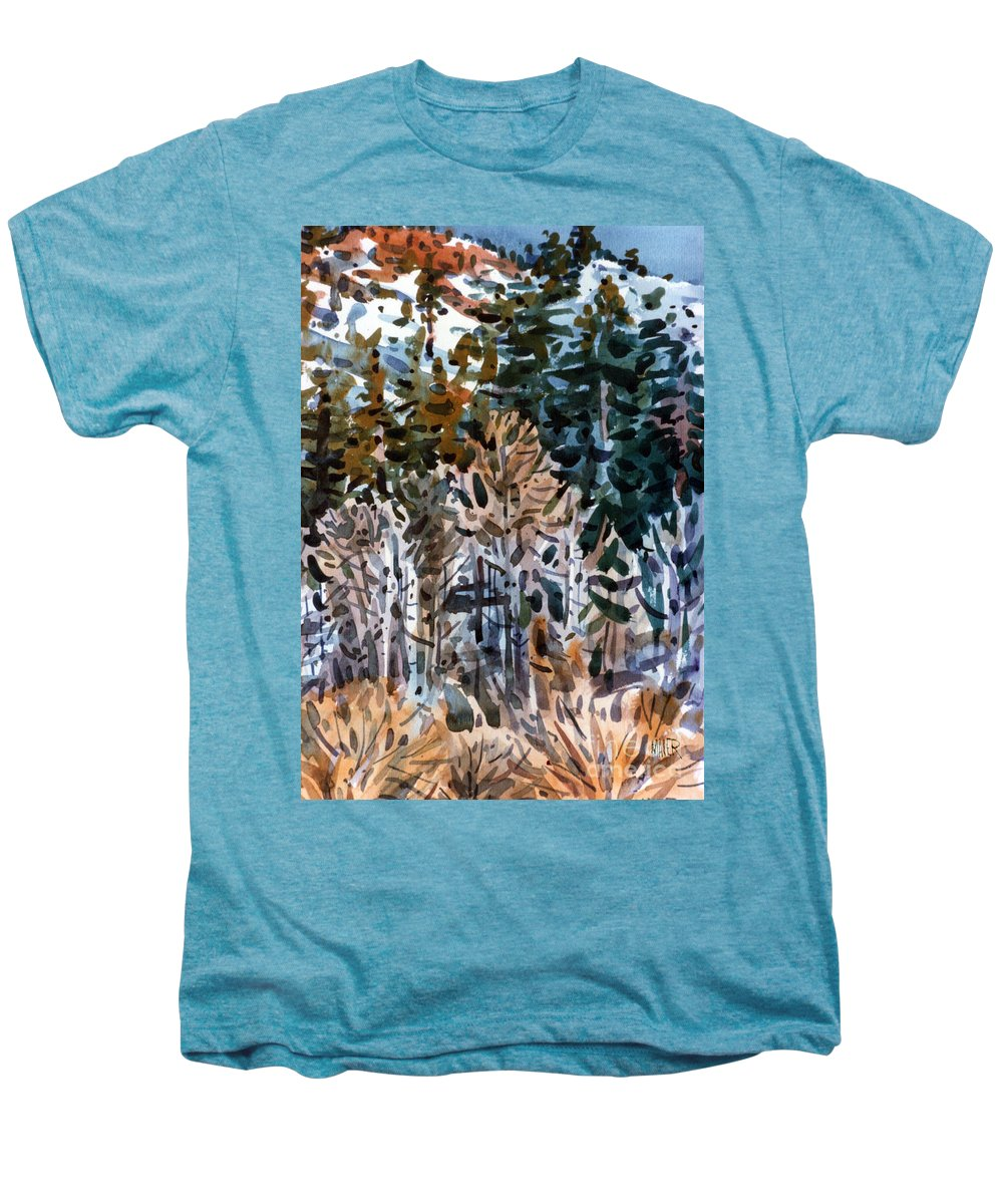 Walker River Men's Premium T-Shirt featuring the painting Along The Walker River by Donald Maier
