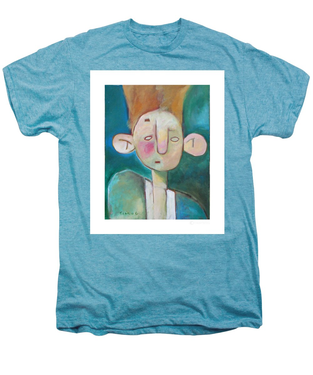 Funny Men's Premium T-Shirt featuring the painting Bad Hair Life by Tim Nyberg
