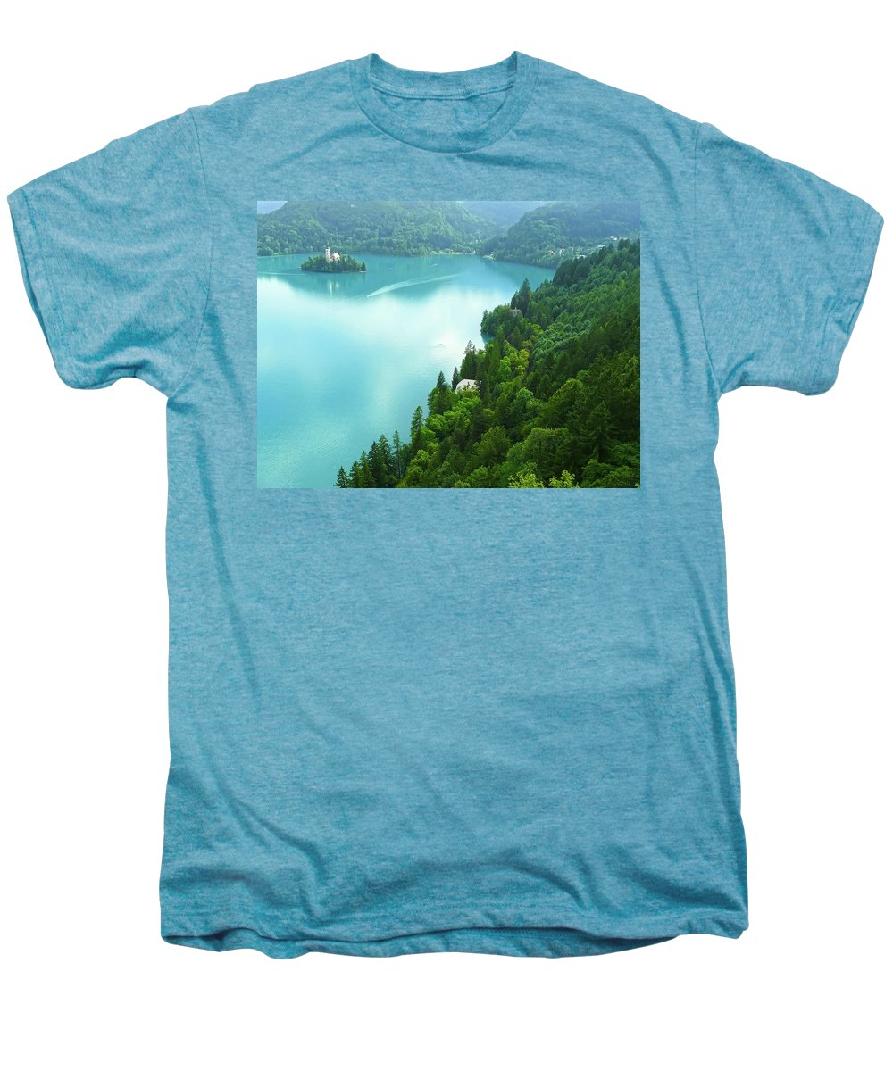 Island Men's Premium T-Shirt featuring the photograph Bled by Daniel Csoka