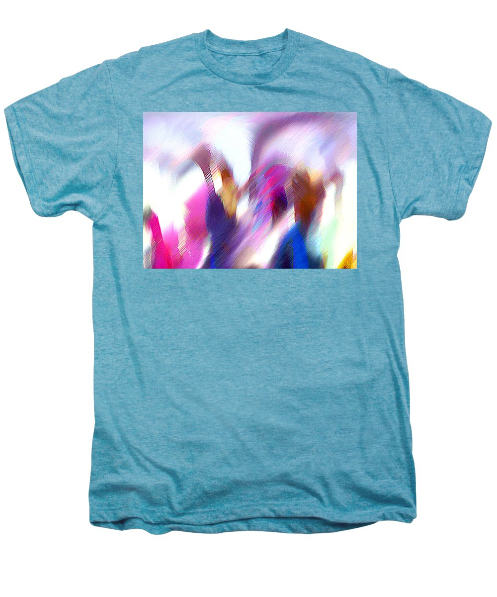 Digital Media Men's Premium T-Shirt featuring the painting Color Dance by Anil Nene