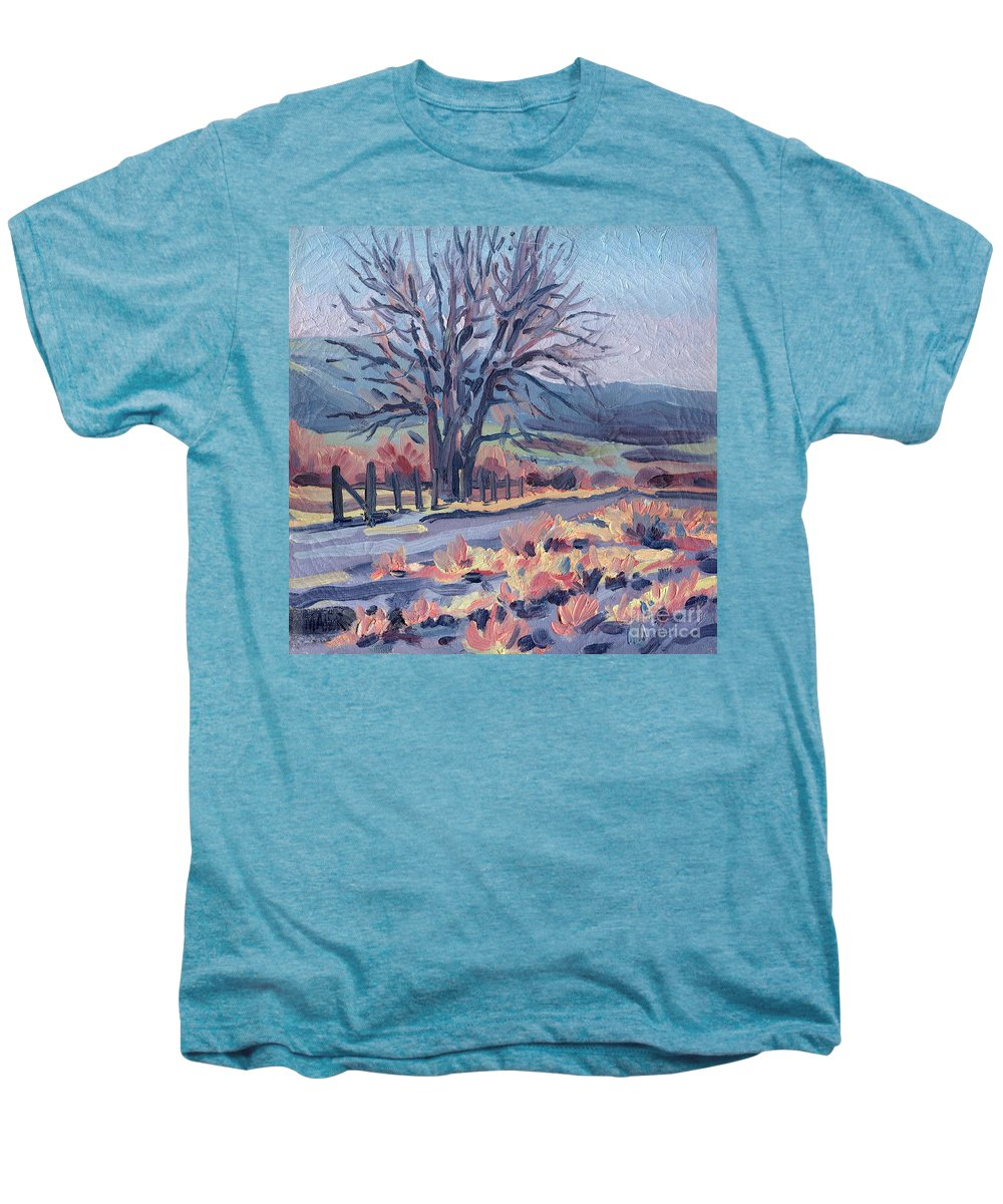 Road Men's Premium T-Shirt featuring the painting Country Road by Donald Maier