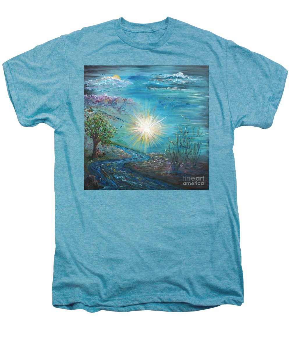 Creation Men's Premium T-Shirt featuring the painting Creation by Nadine Rippelmeyer