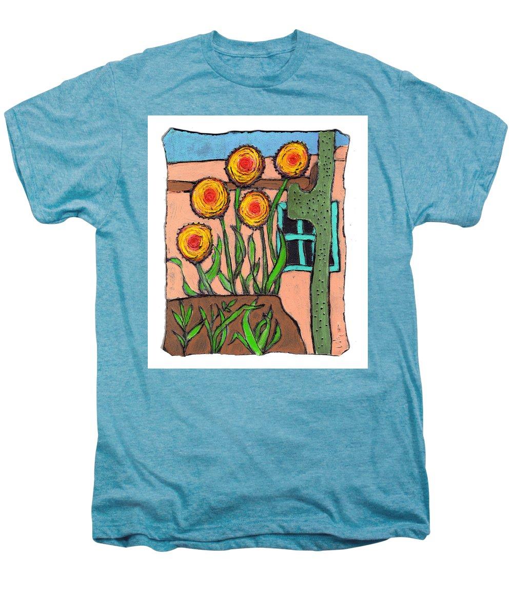 Desert Men's Premium T-Shirt featuring the painting Desert Fantasy by Wayne Potrafka