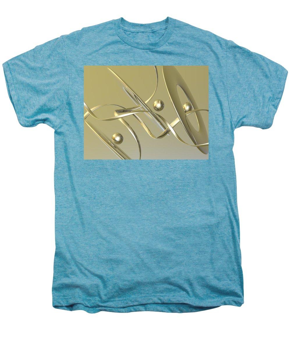 Scott Piers Men's Premium T-Shirt featuring the painting Gold by Scott Piers