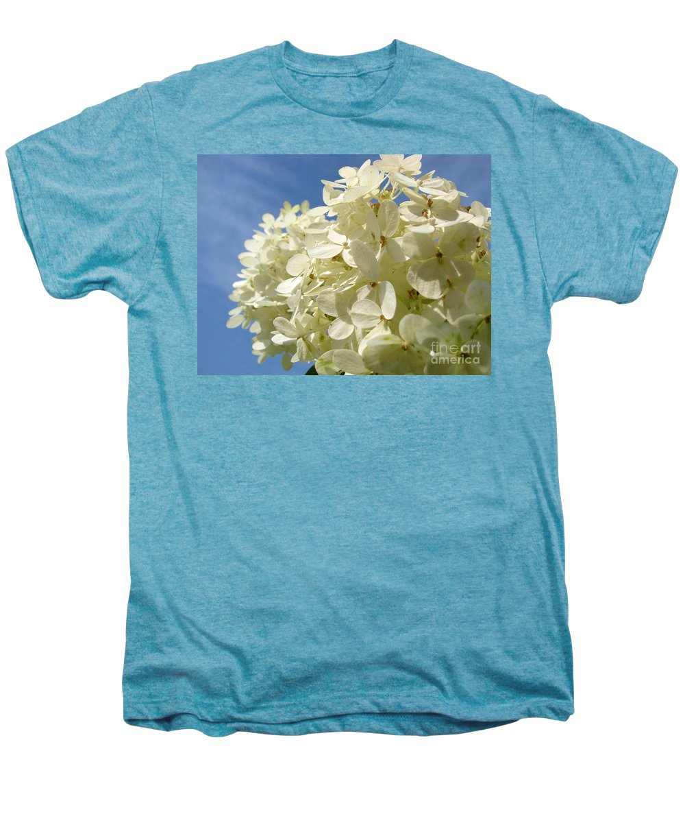 Hydranga Men's Premium T-Shirt featuring the photograph Hydrangea by Amanda Barcon