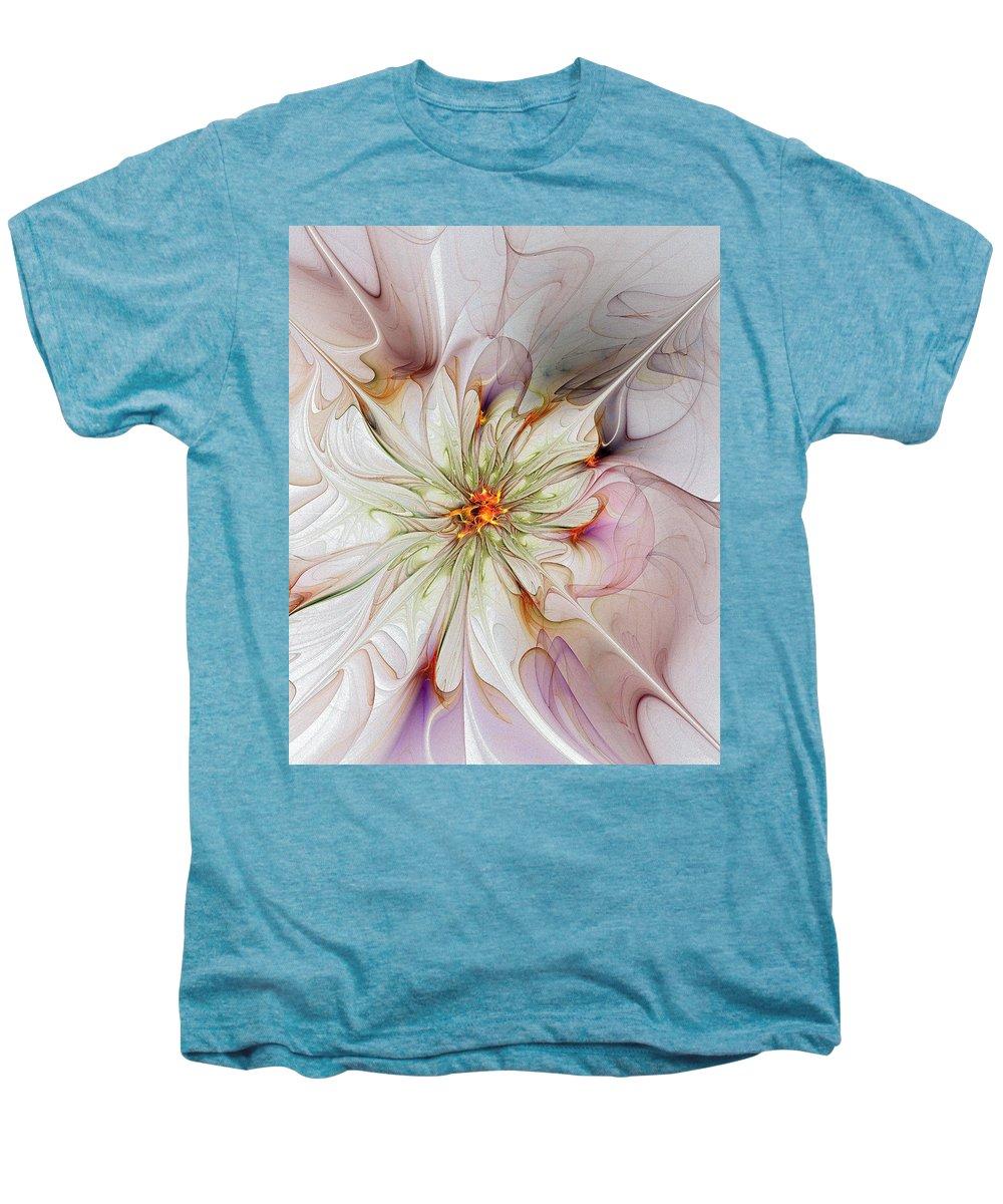 Digital Art Men's Premium T-Shirt featuring the digital art In Full Bloom by Amanda Moore