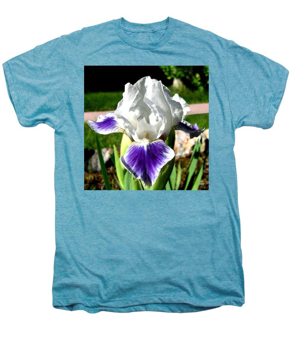 Iris Men's Premium T-Shirt featuring the photograph Iris Elegance by Will Borden