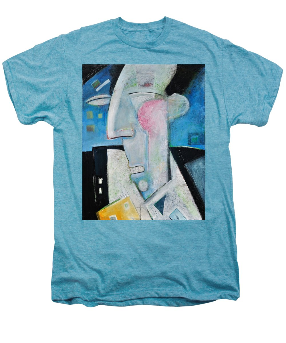 Jazz Men's Premium T-Shirt featuring the painting Jazz Face by Tim Nyberg