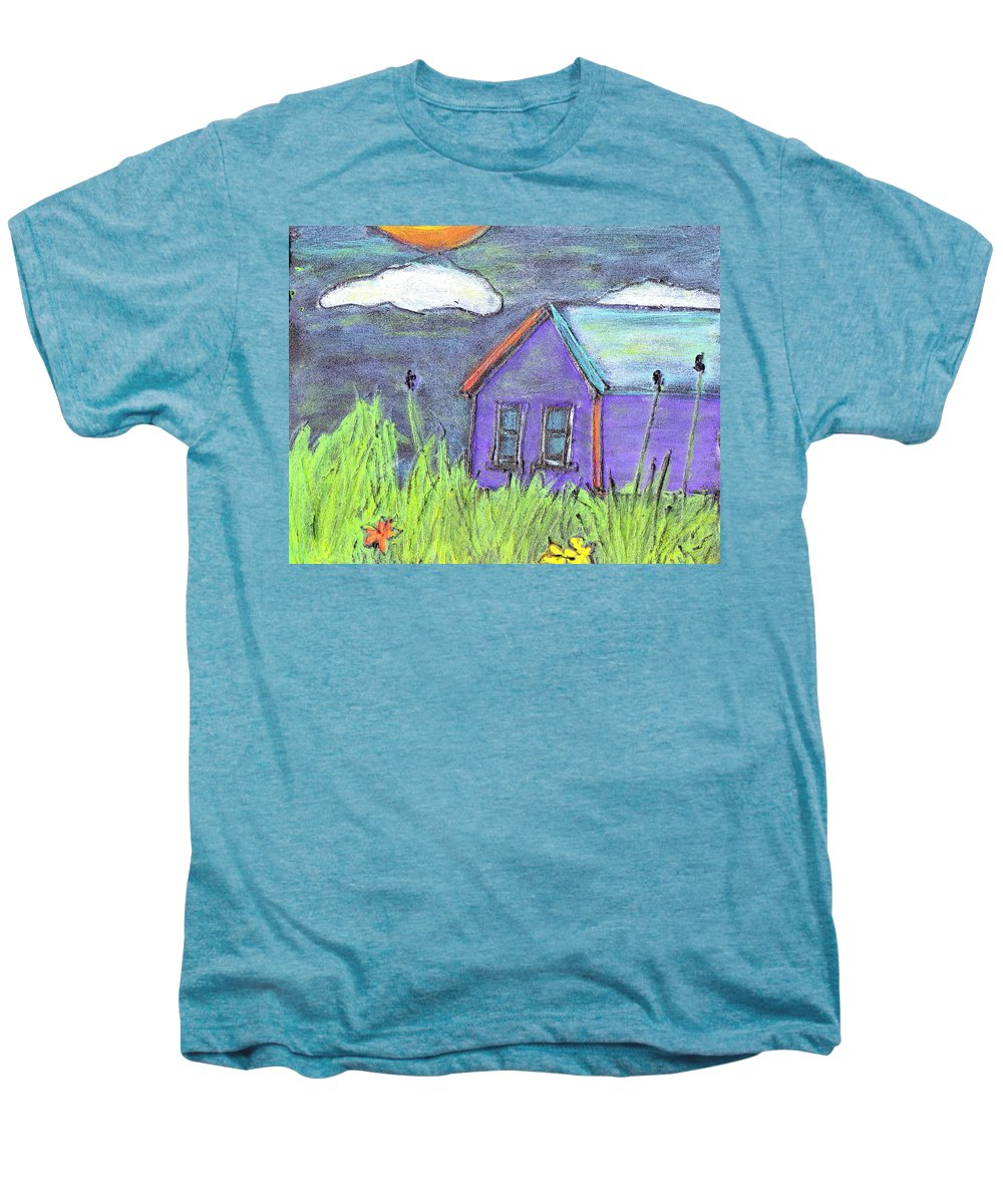 Abandoned Men's Premium T-Shirt featuring the painting Left Behind by Wayne Potrafka