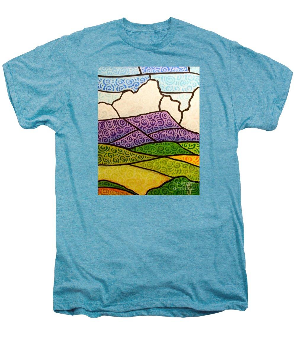 Mountians Men's Premium T-Shirt featuring the painting Massanutten Peak by Jim Harris