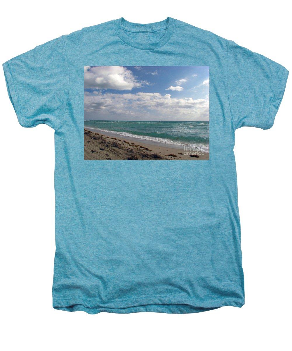 Miami Beach Men's Premium T-Shirt featuring the photograph Miami Beach by Amanda Barcon