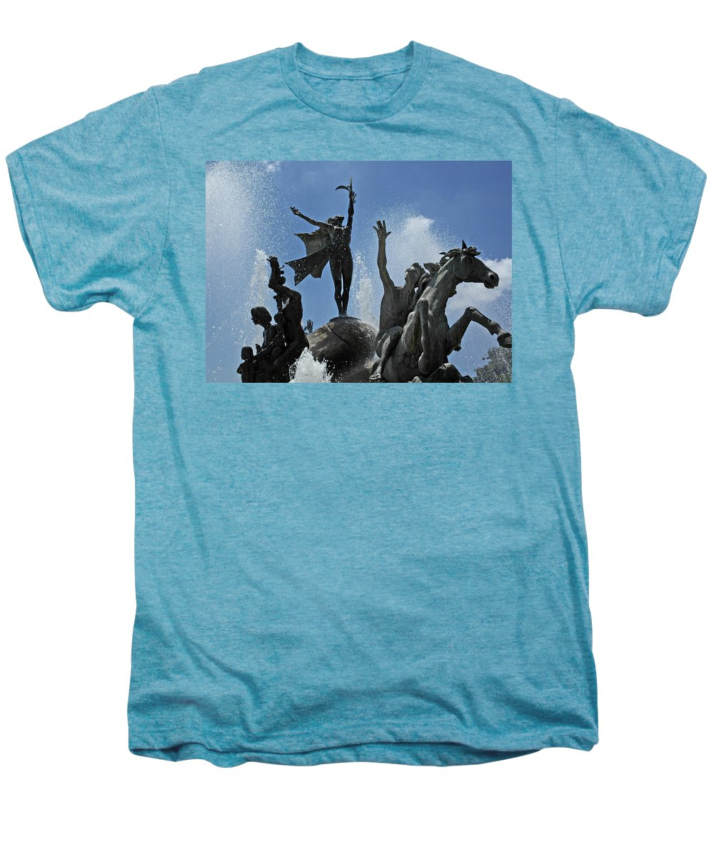 Statue Men's Premium T-Shirt featuring the photograph Old San Juan Puerto Rico by Tito Santiago