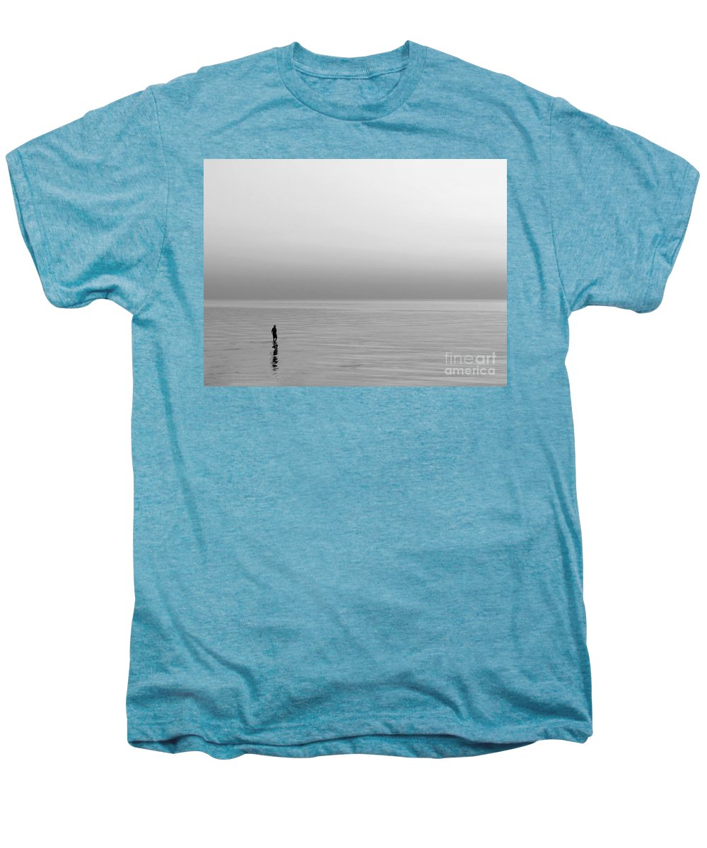 Lake Men's Premium T-Shirt featuring the photograph One Man by Dana DiPasquale