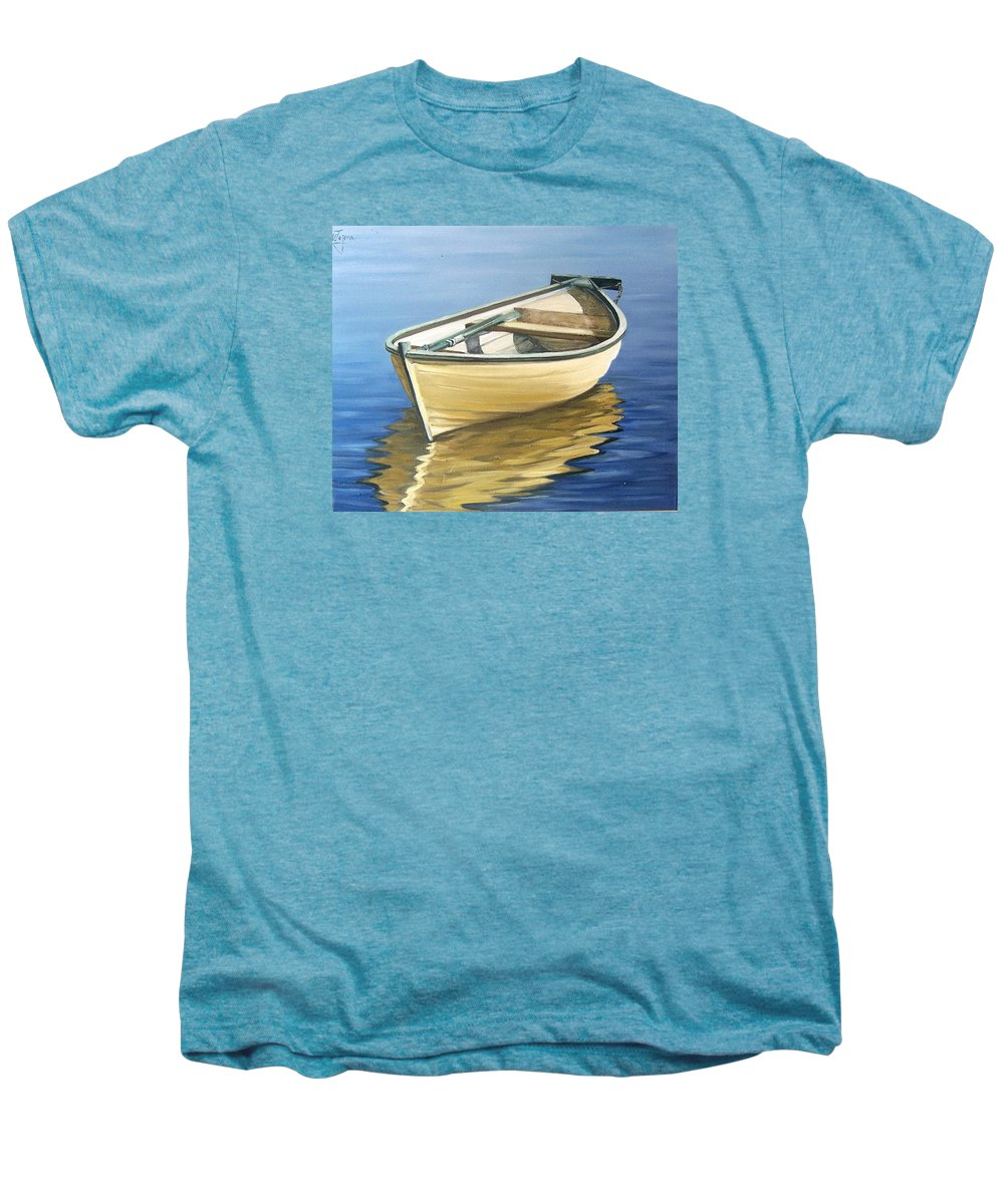 Still Life Men's Premium T-Shirt featuring the painting Calm by Natalia Tejera