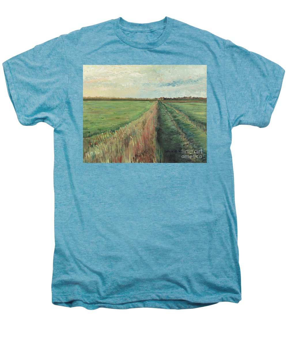 Provence Men's Premium T-Shirt featuring the painting Provence Villa by Nadine Rippelmeyer