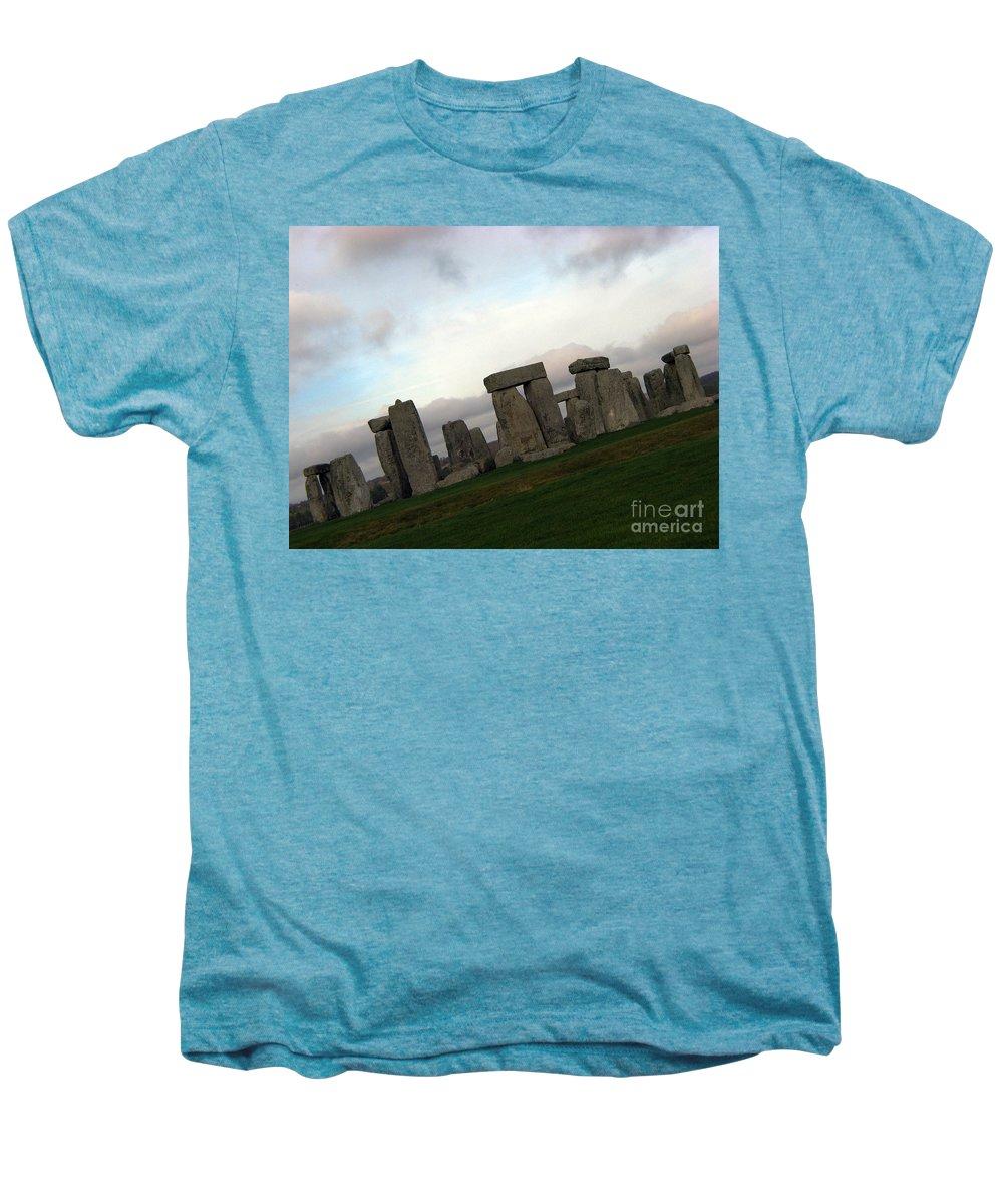 Stonehenge Men's Premium T-Shirt featuring the photograph Stonehenge by Amanda Barcon