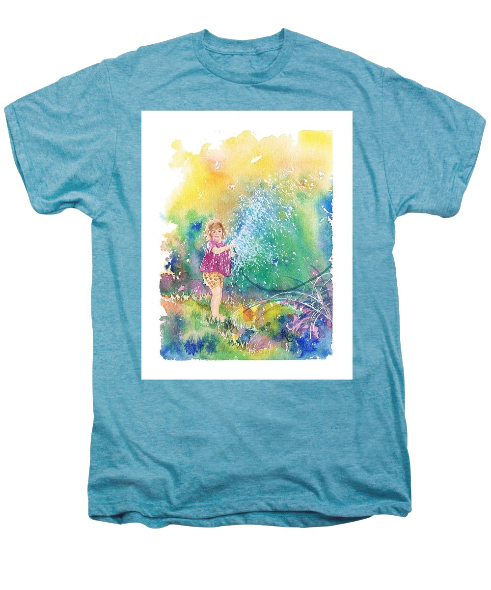 Children Men's Premium T-Shirt featuring the painting Summer Fun by Gale Cochran-Smith