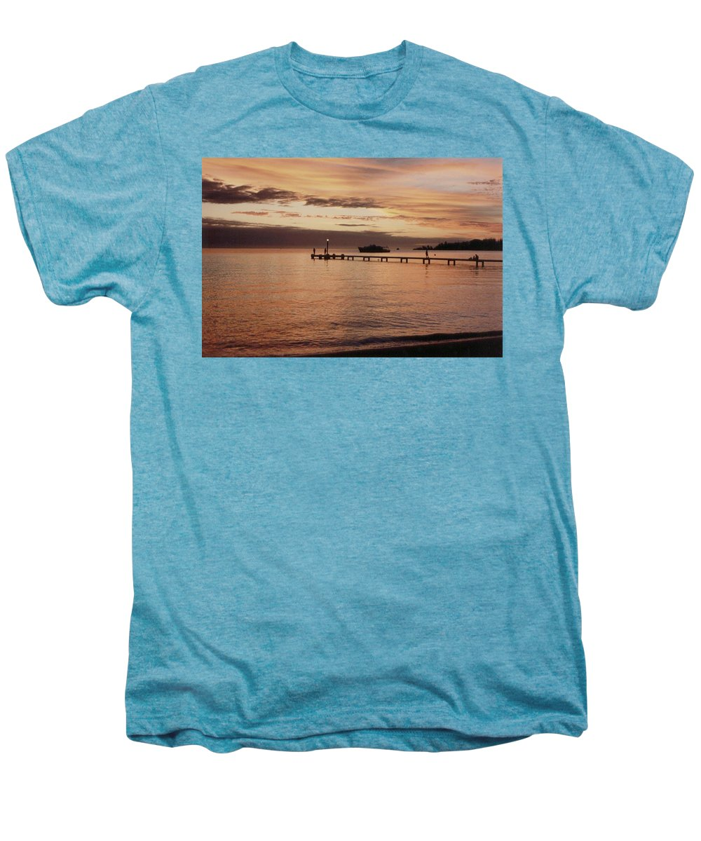 Sunset Men's Premium T-Shirt featuring the photograph Sunset In Paradise by Mary-Lee Sanders