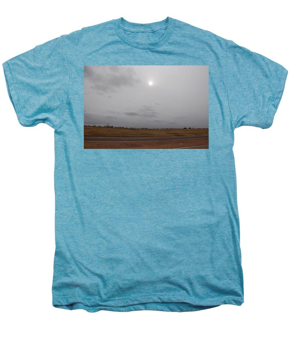 Desert Men's Premium T-Shirt featuring the photograph Sunset In The Desert by Rob Hans