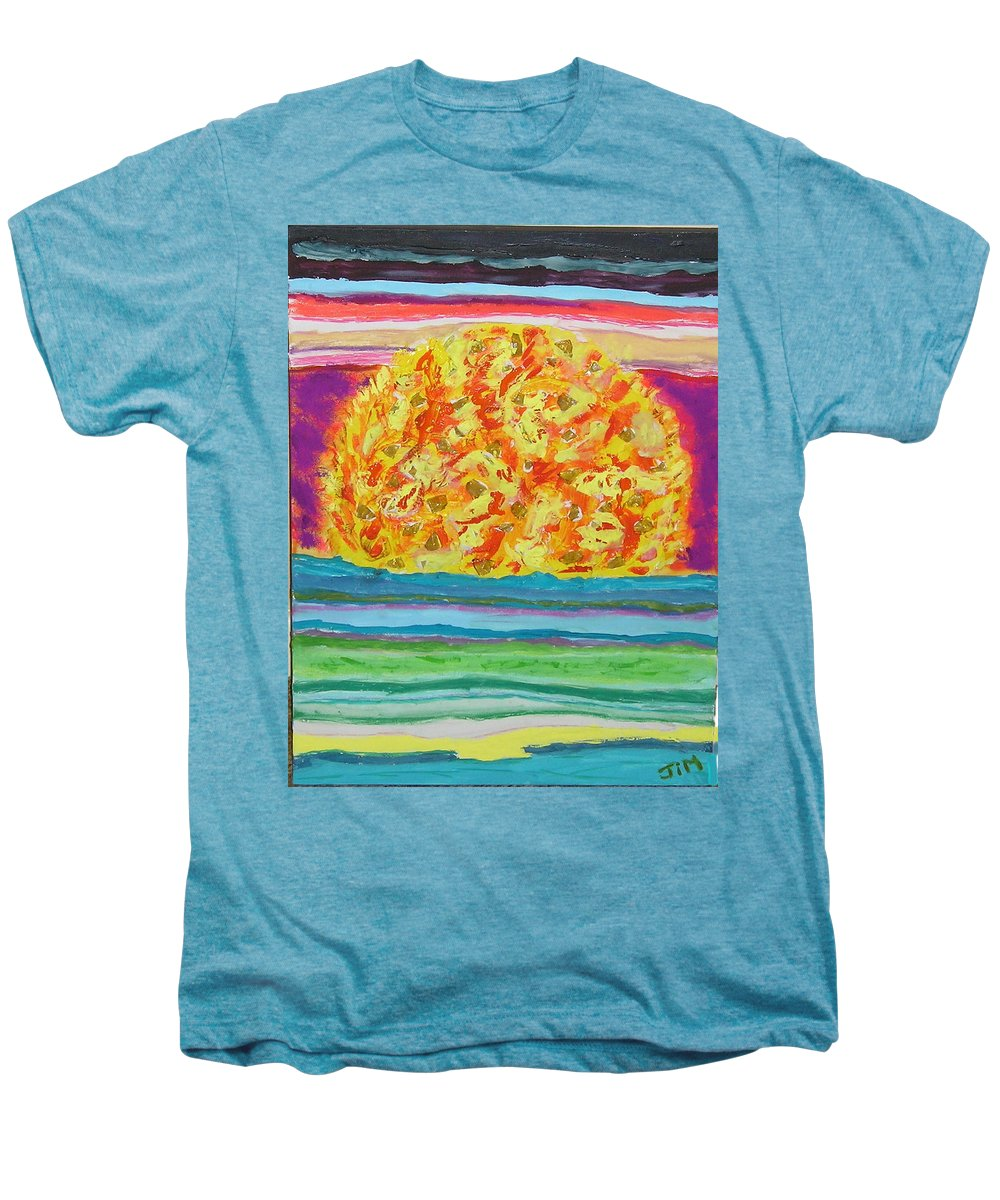 Hot Men's Premium T-Shirt featuring the painting The Sun Drinks The Ocean And Eats The Sky by James Campbell