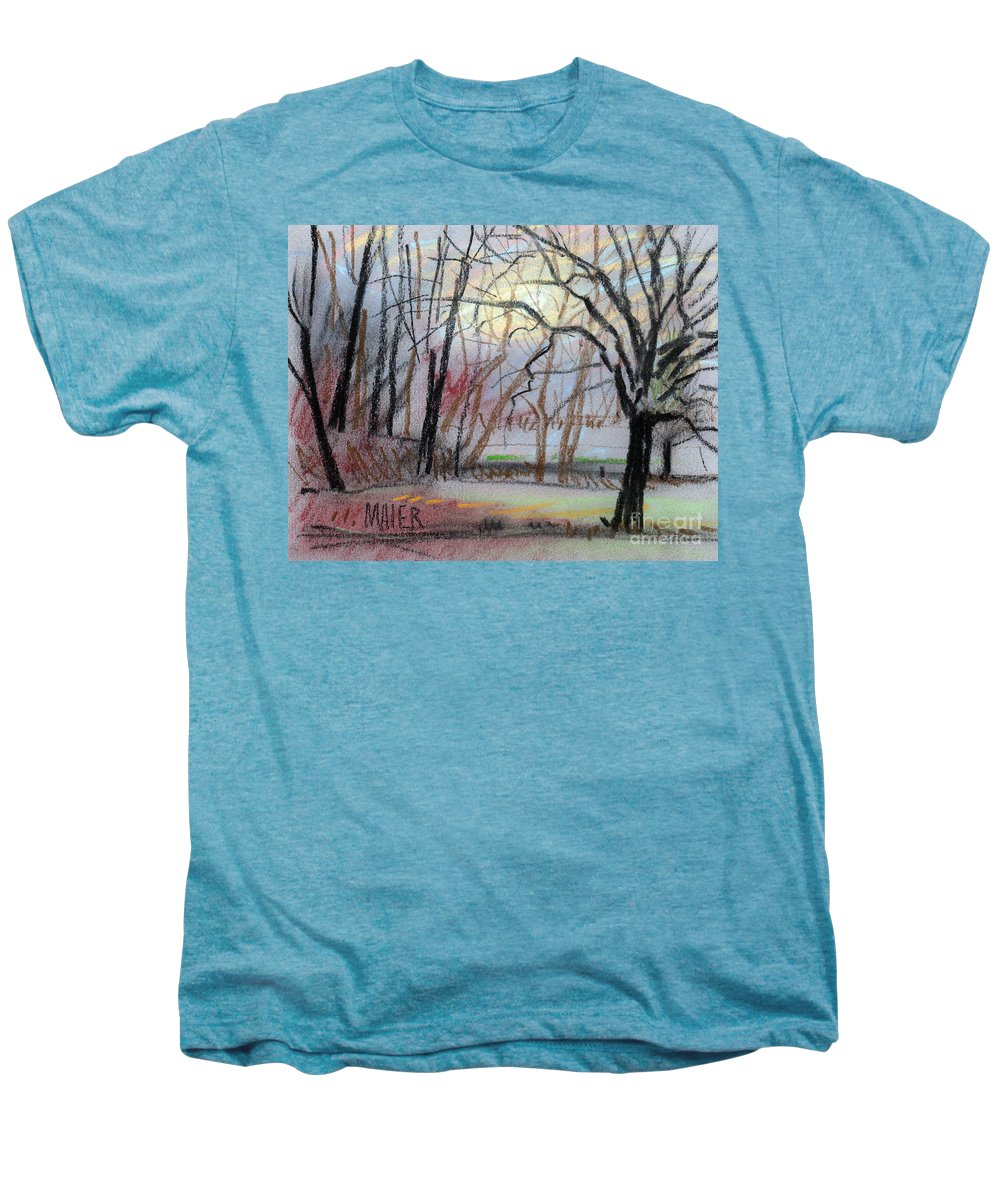 Landscape Men's Premium T-Shirt featuring the drawing Turner South by Donald Maier