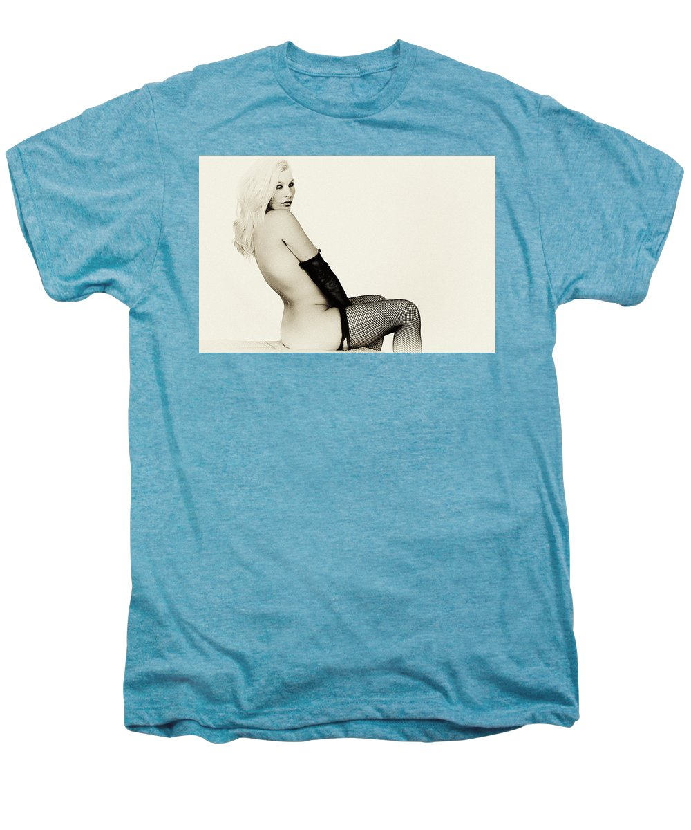 Clay Men's Premium T-Shirt featuring the photograph Vintage Pinup Glamour by Clayton Bruster